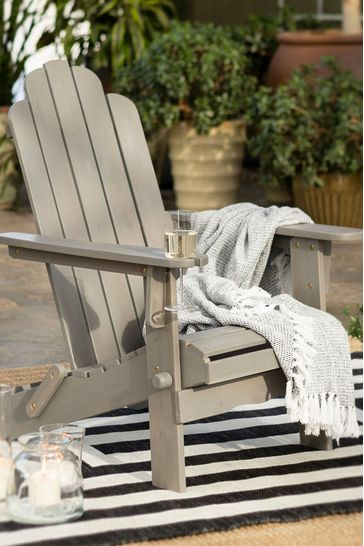 Acacia Outdoor Adirondack Chair By Banbury Design
