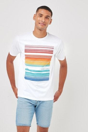 White Bar Graphic T-Shirt