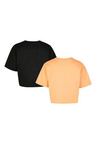 River Island Orange Famous T-Shirts 2 Pack