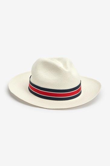 Ecru Stripe Band Christys' London Panama Hat