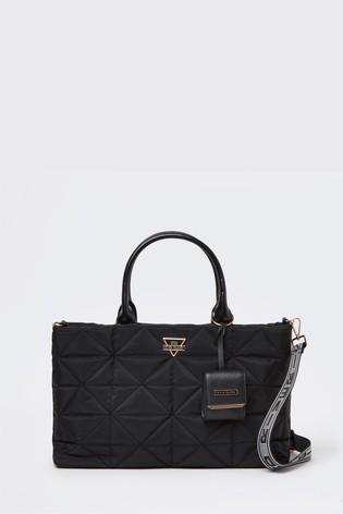 River Island Black Quilted Soft Tote