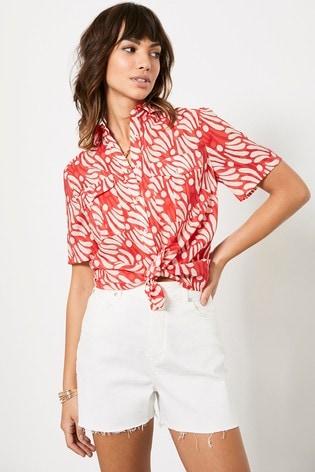 Mint Velvet Keira Print Short Sleeve Shirt