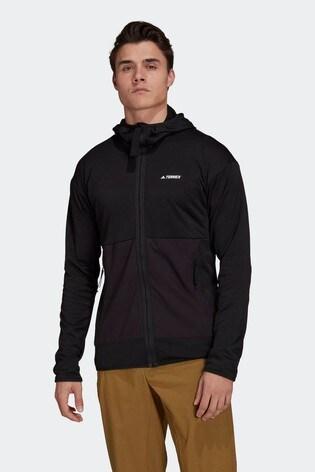 adidas Terrex Tech Fleece Light Hooded Hiking Jacket