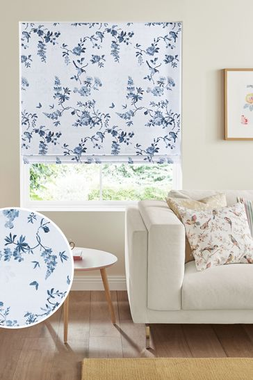 Cath Kidston Blue Birds & Roses Made To Measure Roman Blind
