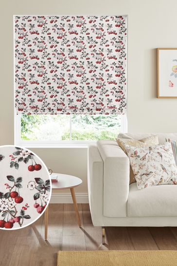 Cath Kidston Cherry Sprig Red Made To Measure Roman Blind