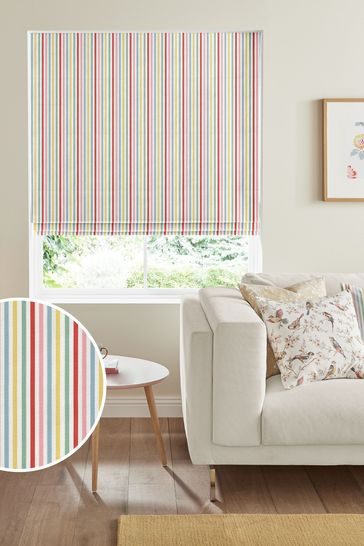 Cath Kidston Cream Mid Stripe Candy Made To Measure Roman Blind