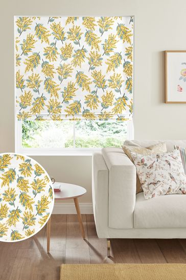 Cath Kidston Mimosa Flower Citrine Made To Measure Roman Blind