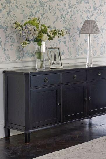 Henshaw Black 3 Door 3 Drawer Sideboard