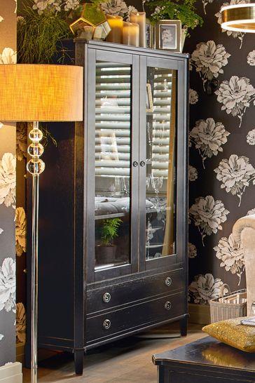 Henshaw Black 2 Door 2 Drawer Display Unit by Laura Ashley