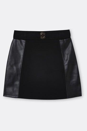 River Island Black Ponte Skirt