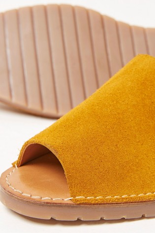 FatFace Yellow Louisa Slingback Sandals