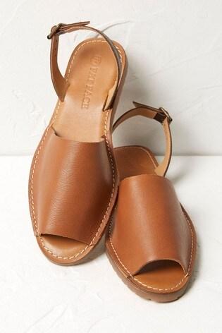 FatFace Tan Louisa Slingback Sandals