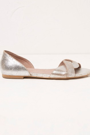 FatFace Silver Gracie Twist Sandals