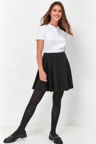 Kylie Teen Black Skater Skirt