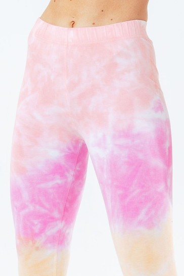 Hype. Pink Tie Dye Scribble Logo Women's Leggings