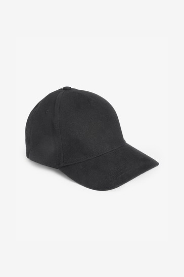 Black Personalised Initial Embroidered Cap