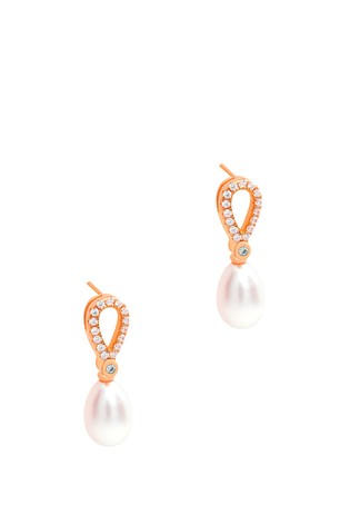 Pure Luxuries London Spencer Freshwater Pearl Earrings