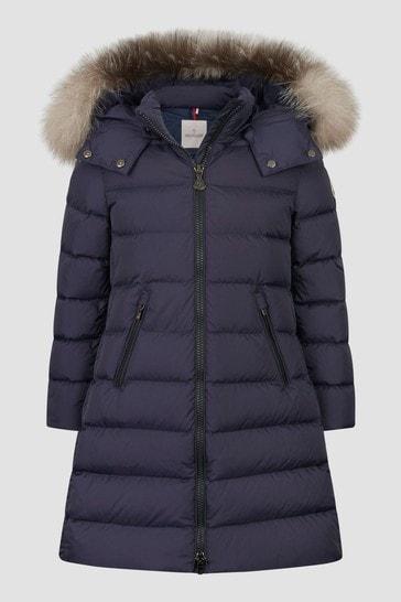Girls Navy Abelle Long Coat