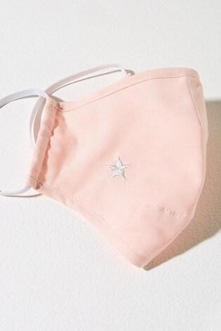 Mint Velvet Pale Pink Star Face Covering