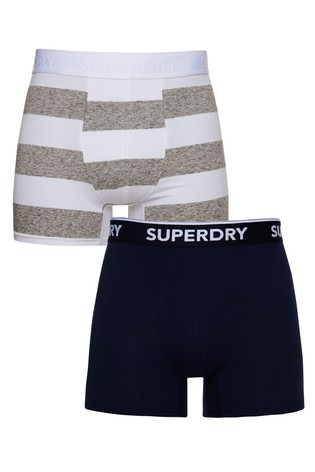 Superdry Cotton Classic Boxers 2 Pack