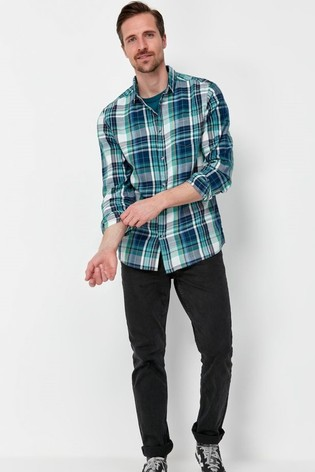 M&Co Blue Summer Check Shirt