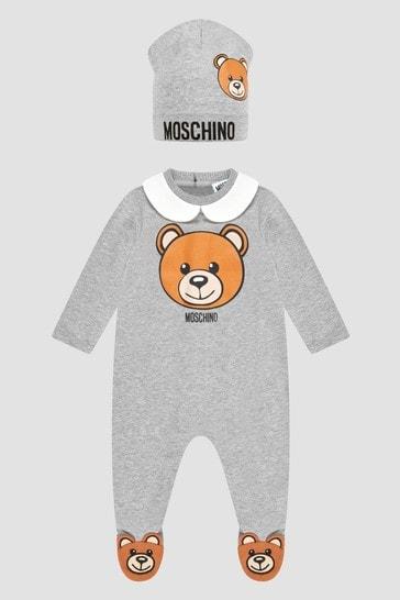 Baby Boys Grey Sleepsuit Set