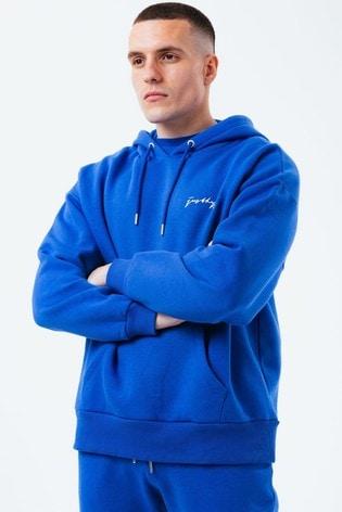 Hype. Mens Royal Blue Oversized Hoodie