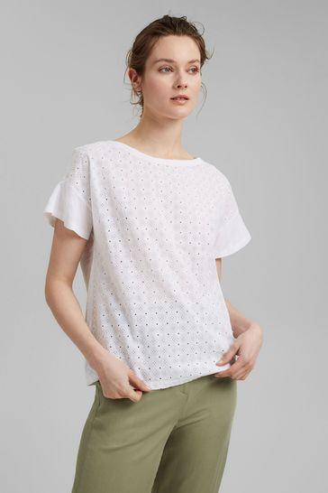Esprit White Organic Cotton T-Shirt