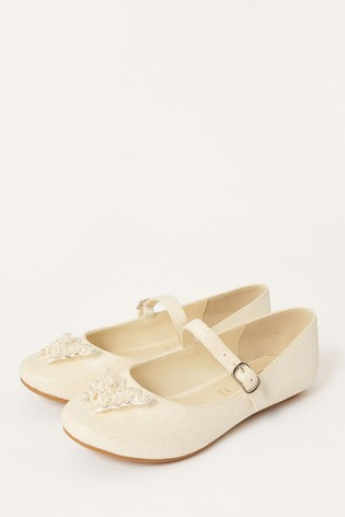 Monsoon Pearly Butterfly Shimmer Shoes