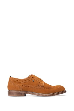 Base London Tan Onyx Suede Lace-Up Brogues