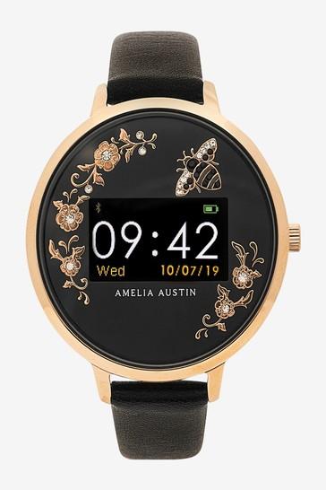 Amelia Austin Series 3 Secret Garden Black Smart Watch