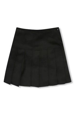 M&Co Back to School Girls Black Pleated Skirt