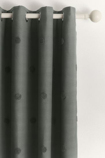 Appletree Charcoal Grey Zara Eyelet Curtains