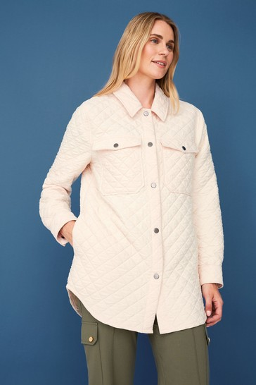 F&F White Quilted Shacket