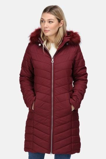 Regatta Red Fritha Insulated Longline Jacket