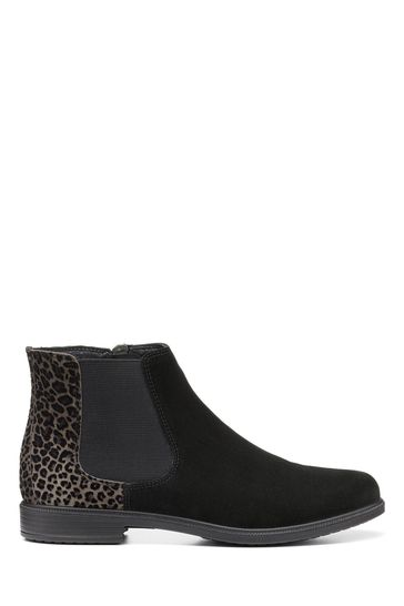 Hotter Animal Leopard Tenby Zip Ankle Boots