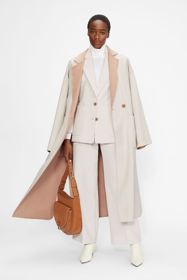 Ted Baker Anahh Flood Length Double Faced Wool Coat