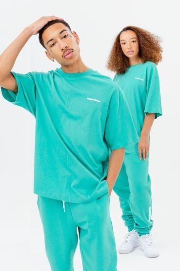 Continu8 Unisex Turquoise Oversized T-Shirt