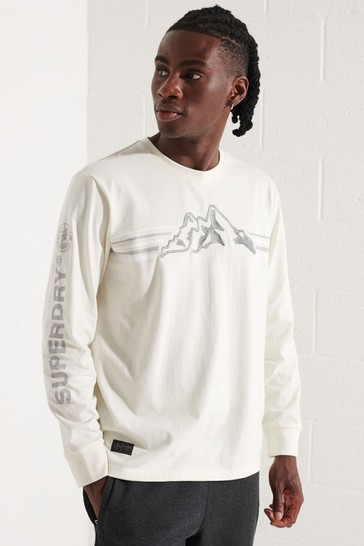 Superdry Cream Expedition Graphic Long-Sleeve Top