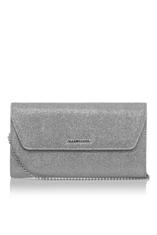 Lipsy Silver Envelope Clutch Bag