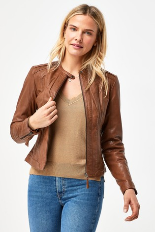 Naf Naf Leather Jacket
