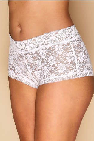 Yours Curve White Lace Short