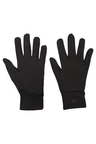 Mountain Warehouse Black Grippi Lining Gloves
