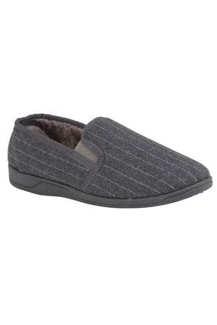 Lotus Pinstripe Slippers