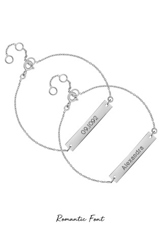 Personalised Sterling Silver Engravable Bar Bracelet by Simply Silver
