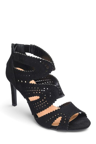 Simply Be Wide Fit Cage Heels Sandals