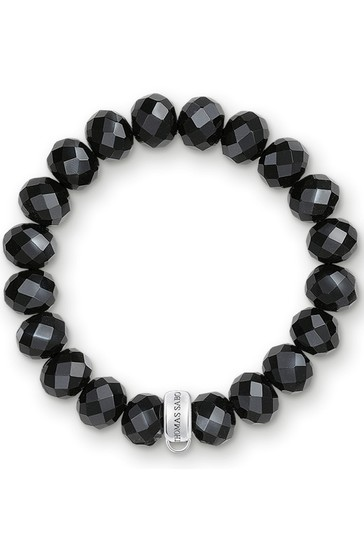 Thomas Sabo Black Fresh Water Pearl Charm Bracelet