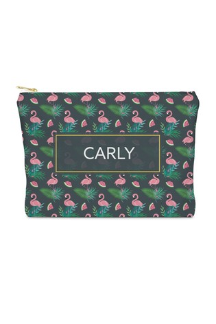 Personalised Large Flamingo Cosmetic Bag By YooDoo
