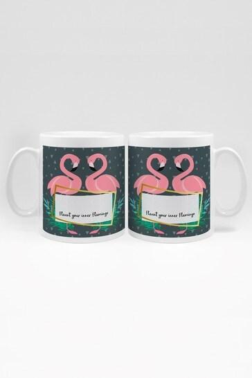 Personalised Flaunt Your Inner Flamingo Mug By YooDoo