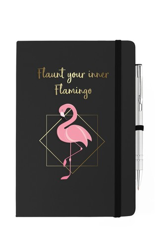 Personalised Soft Touch Notebook & Pen (Pen not personalised) By YooDoo